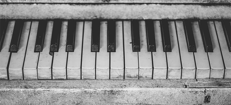 A damaged piano